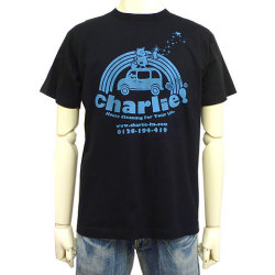 charlie!Tシャツブラックフロント