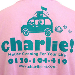 charlie!Tシャツライトピンクバックプリント