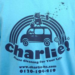 charlie!Tシャツサックスフロントプリント