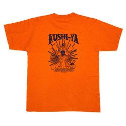 KUSHI-YATシャツオレンジバック