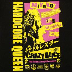 松本都選手Tシャツ2ブラックフロントプリント
